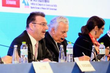 L-R:ASOIF Executive Director Andrew Ryan; President Franceso Ricci Bitti; Council Member Marisol Casado (Photo: ASOIF)