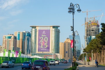 The central avenue in Baku just before the start of the European Olympic Games (Photo: Tycson1 / Shutterstock)
