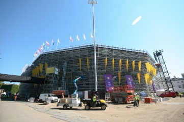 The London 2012 beach volleyball arena, by Populous and Arena Group, was highly innovative (Photo: Arena Group)