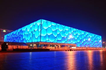 "The ""Water Cube"", which hosted Aquatics in 2008, will become the ""Ice Cube"" for skating events in 2022 (Songquan Deng / Shutterstock.com)"