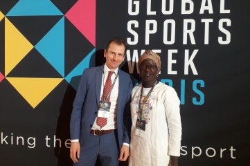 Ben Avison and Fanta Diallo at Global Sports Week Paris (Photo: Host City)