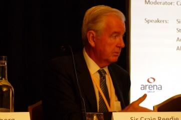 WADA president Sir Craig Reedie speaking at HOST CITY Bid to Win in October 2014
