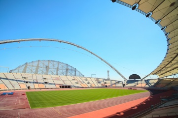 Doha Khalifa athletics track
