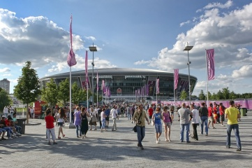 Stadium Donbass Arena before the semi-final match of UEFA EURO 2012 Spain vs. Portugal (Photo: Valentyn1961 / Shutterstock.com)