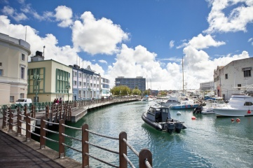 The marina in downtown Bridgetown, the capital of Barbados