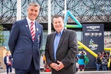 Ian Reid, CEO of Birmingham 2022 and Kevin Brownhill, Global Partnerships Manager at Aggreko (Photo Credit: Birmingham 2022)