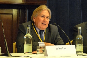 Mike Lee OBE, pictured here speaking at HOST CITY Bid to Win Conference on 28th October 2014