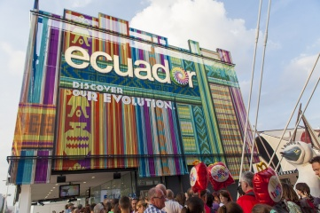 Exhibiting nations, like Ecuador at Milan 2015, have the opportunity to market themselves to an international audience at a World Expo (Photo Credit: Goran Bogicevic / Shutterstock)