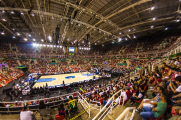 Rio Olympic Arena staged the first NBA match to be played in Brazil in October 2013 (Photo: Rio 2016/Alex Ferro)