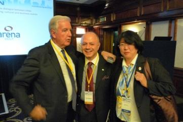 At Host City Bid to Win (L-R): IOC vice president Sir Craig Reedie, Games transport expert Panos Protopsaltis and Katsura Enyo, senior director of Tokyo 2020 Games Preparation Division at Host City Bid to Win
