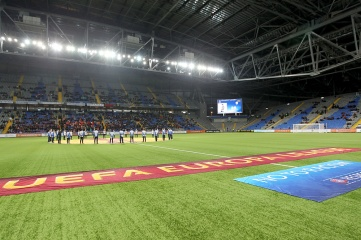 Kazakhstan's Astana Arena during the Europa League Anthem on November 28, 2013 (Ververidis Vasilis / Shutterstock.com)