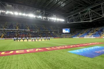 Kazakhstan's Astana Arena during the Europa League Anthem on November 28, 2013 (Ververidis Vasilis / Shutterstock.com)