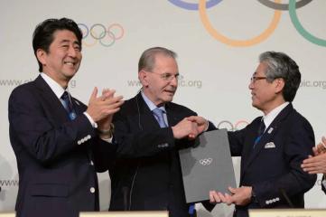 Shizo Abe, Jacques Rogge, Tsunekazu Takeda