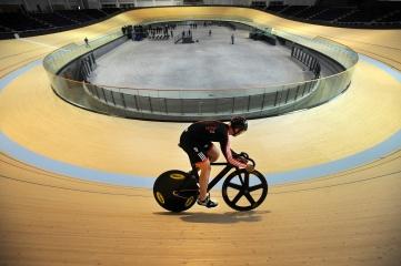 Chris Hoy at the Glasgow Velodrome (Photo: EventScotland)