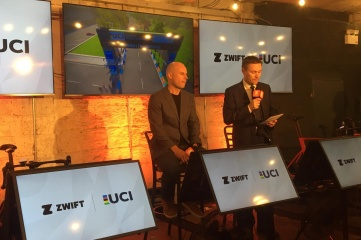 The press conference on the agreement between the UCI and Zwift (Photo © UCI)